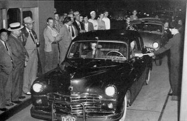 Opening the Western Extension at Pittsburgh Interchange on August 7, 1951. (Photo: Pennsylvania Turnpike Commission)