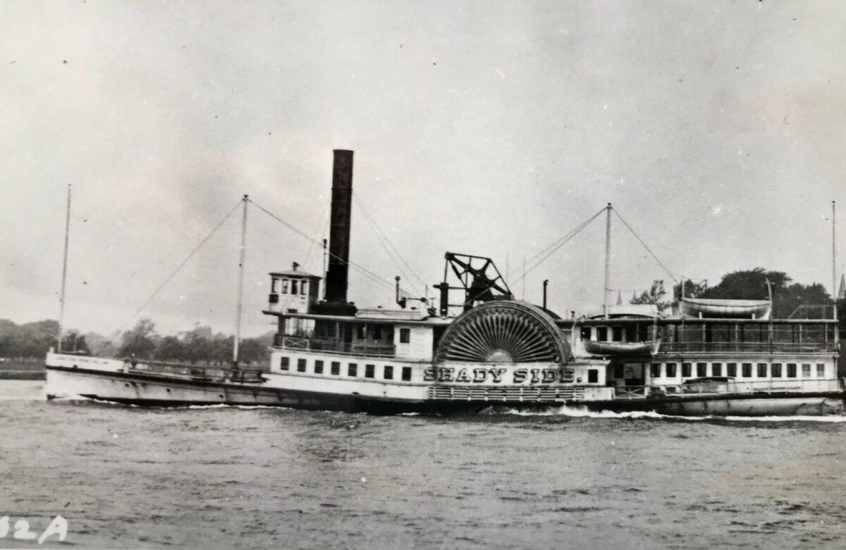 The SS Shady Side. (Photo from the William Miller Collection, SSHSA Archives)