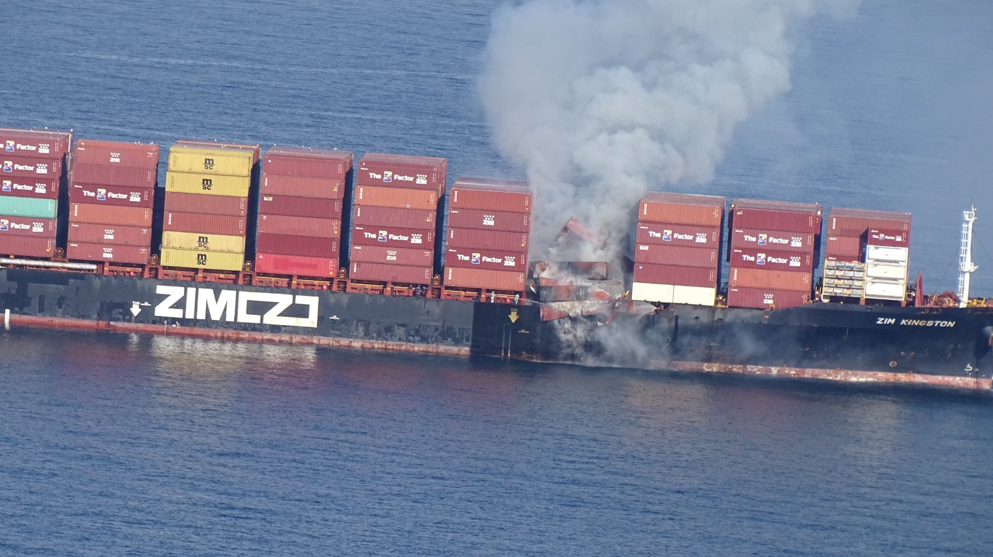 More container-ship accidents in Pacific