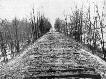 Part of the roadbed that was built originally for Vanderbilt's railroad. (Photo: Pennsylvania State Archives)