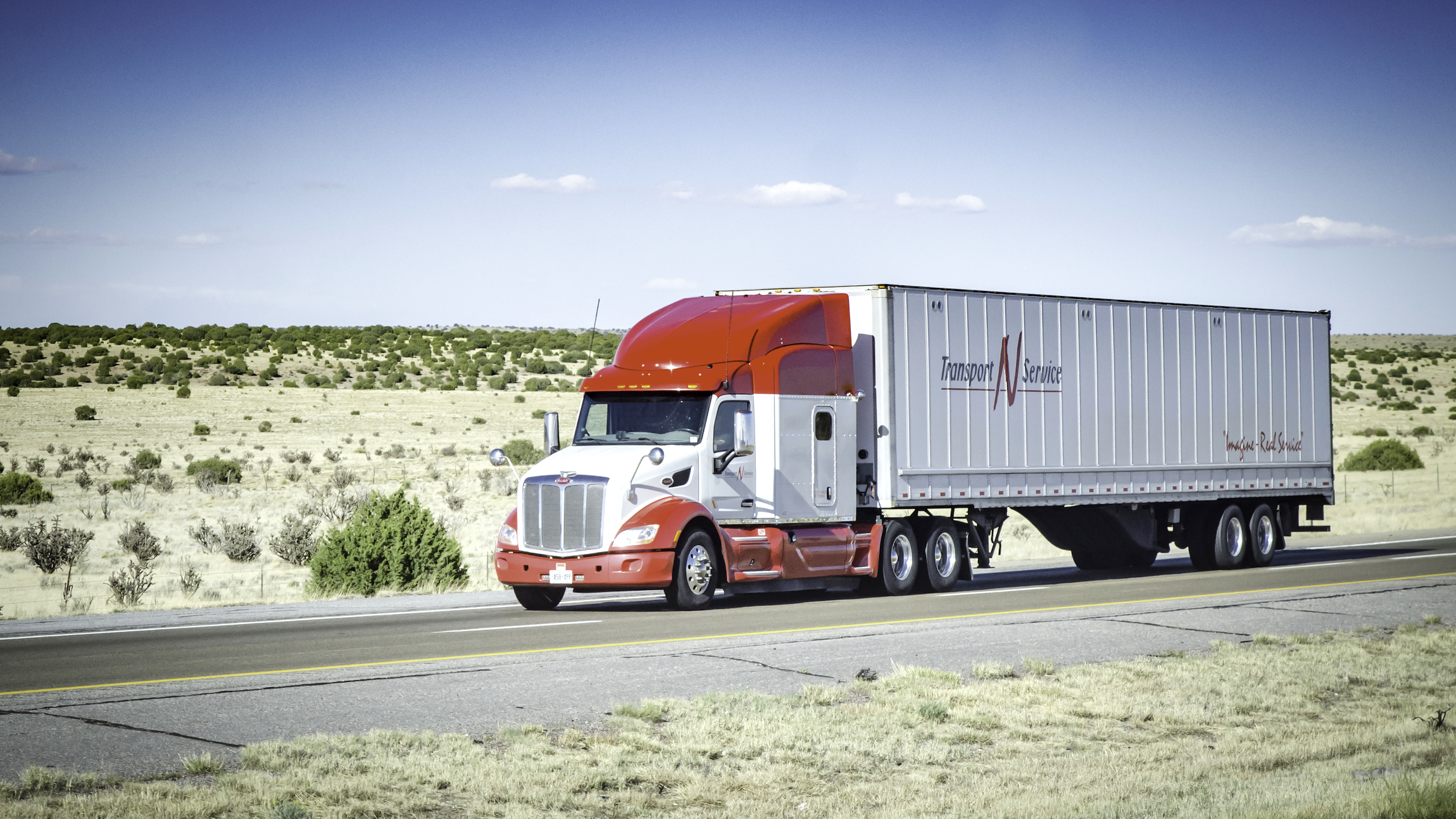 A tractor-trailer of Transport n Service, which was acquired by Kriska Transportation Group.